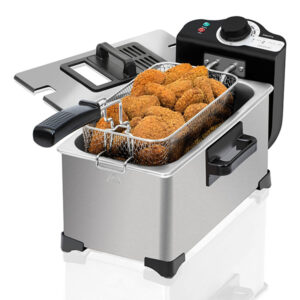 Fritadeira Cecotec Cleanfry 3L 2000W Aço inoxidável Cinzento