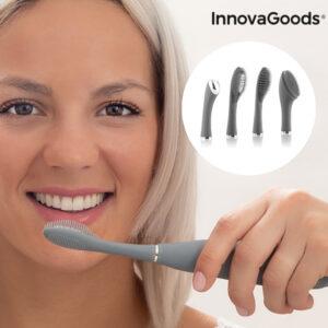 Escova de Dentes Sónica de Silicone com Acessórios - VEJA O VIDEO