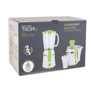 Liquidificadora Batedeira 2 em 1 Kitchen Tropic MKT92230 300W Branco Verde
