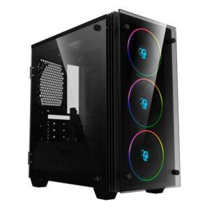 Caixa Semitorre Micro ATX / Mini ITX CoolBox COO-DGC-M192-0 RGB LED Preto