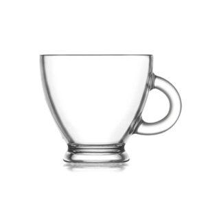 Conjunto de Chávenas de Café LAV Roma 95 ml Cristal (6 Pcs)