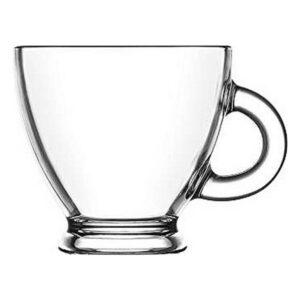 Conjunto de Chávenas de Café LAV Roma 225 ml Cristal (6 Pcs)