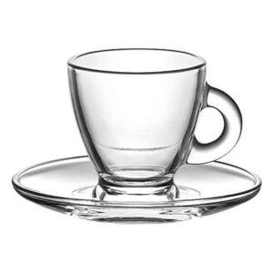 Conjunto de Chávenas de Café LAV Roma 225 ml Cristal (12 Pcs)