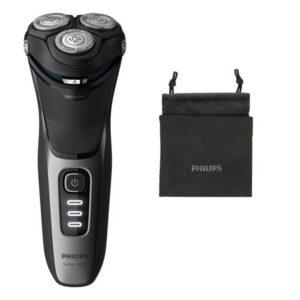 Máquina de Barbear Elétrica Recarregável Philips Wet&Dry S3231/52 Preto