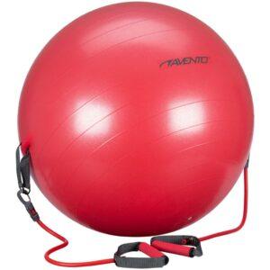 Avento Bola pilates c/ elásticos resistência 65cm vermelho 41TO-ROG-65   - PORTES GRÁTIS