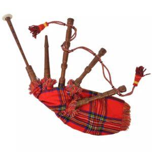Gaita-de-Foles Escocesa Crianças Padrão Xadrez Vermelho Royal - PORTES GRÁTIS