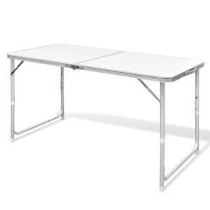 Mesa dobrável, para campismo, de altura ajustável, em aluminio - PORTES GRÁTIS