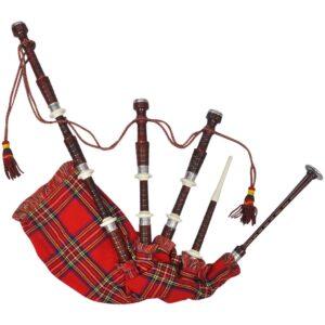 Gaita-de-Foles Escocesa Padrão Xadrez Vermelho Royal - PORTES GRÁTIS