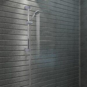 Conjunto barra de duche com chuveiro de mão metal - PORTES GRÁTIS
