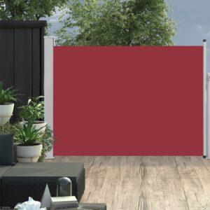 Toldo lateral retrátil para pátio 120x500 cm vermelho - PORTES GRÁTIS