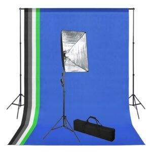 Kit estúdio de fotografia com fundo e softbox de iluminação - PORTES GRÁTIS