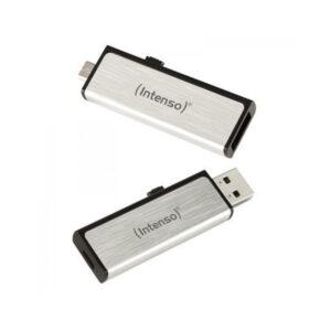 Memória USB e Micro USB INTENSO 3523470 16 GB Prata