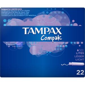 Tampão Leve Compak Tampax (22 uds)