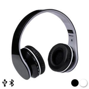 Auscultadores de Diadema Dobráveis com Bluetooth 144938 Branco