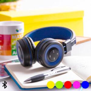 Auscultadores Bluetooth Mãos Livres e Painel de Controlo Integrado 145562 Amarelo