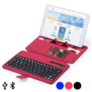 Teclado Bluetooth com Suporte para Dispositivo Móvel 145739 Vermelho