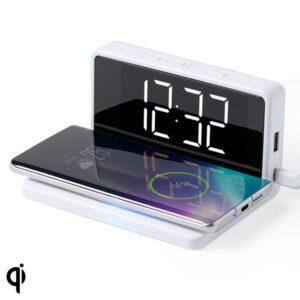 Relógio Despertador com Carregador sem Fios Branco 146512 Branco