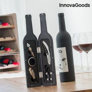 Estojo de Vinho Garrafa InnovaGoods (5 Peças)