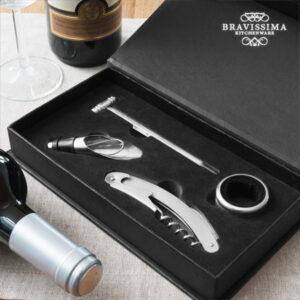 Conjunto de Acessórios para Vinho Bravissima Kitchen (4 peças)