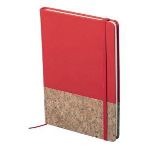 Bloco de Notas Vermelho com Marcador (100 Folhas)