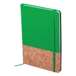 Bloco de Notas Verde com Marcador (100 Folhas)