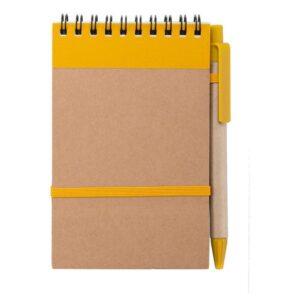 Caderno de Argolas com Caneta (70 Folhas)