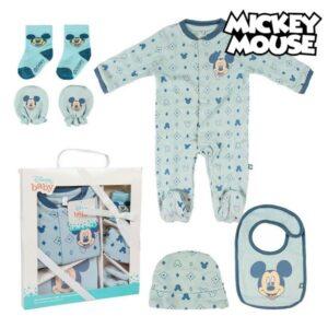 Conjunto de Presente para Bebé Mickey Mouse 75543 Azul claro (7 Pcs)