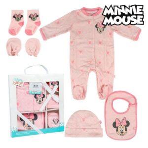 Conjunto de Presente para Bebé Minnie Mouse 75547 Cor de rosa (7 Pcs)