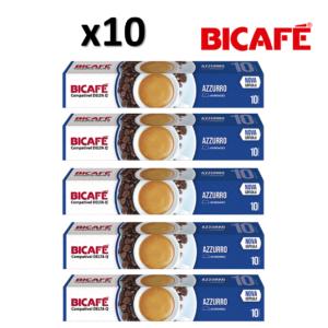 Pack 10 Caixas (100 Unidades ) Bicafé Compativeis com DELTA Q Azzurro Intensidade 10