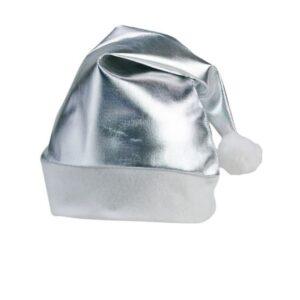 Gorro de Pai Natal Metalizado 149833 Prateado