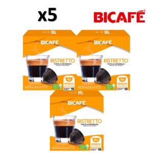 Pack 5 Caixas ( 80 unidades ) Cáp. Bicafé Compativeis com DOLCE GUSTO Ristretto Intensidade 10