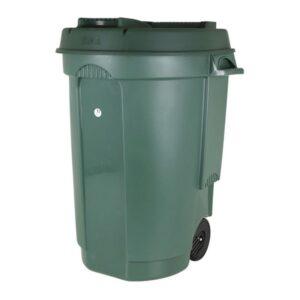 Caixote do Lixo com Rodas 110 L Verde