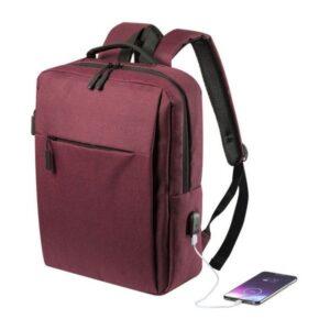 Mochila para Portátil e Tablet com Saída USB 146473 Vermelho