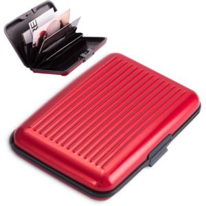 Porta-Cartões Alumínio Vermelha