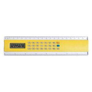 Régua Calculadora (20 Cm) Amarelo