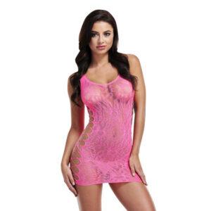 Vestido Sexy Leopard Lapdance Cor de rosa XL