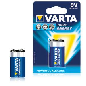 Pilha Alcalina Varta 6LR61 9 V 580 mAh High Energy Azul
