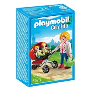 Playset City Life Mama With Twin Cart Playmobil 5573