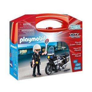Boneco de Ação City Action Police Playmobil 5648 Preto (13 Pcs)