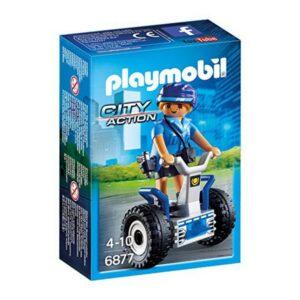 Boneco de Ação City Action Police Balance Racer Playmobil 6877 Azul