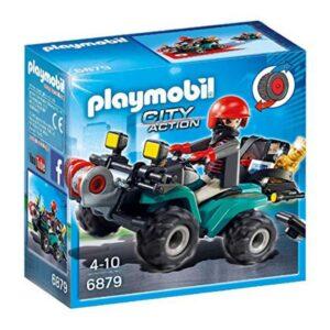 Boneco de Ação City Action Thief With Quad Playmobil 6879