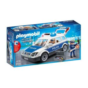 Carro com Luz e Som City Action Police Playmobil 6920 Branco