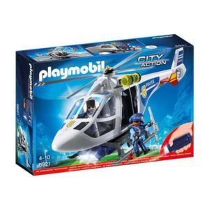 Helicóptero City Action Police Playmobil 6921 LED Branco