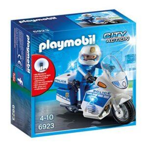 Mota de Polícia City Action Playmobil 6923 LED Branco