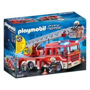 Camião de bombeiros com luz e som City Action Playmobil 9463 (14 pcs)