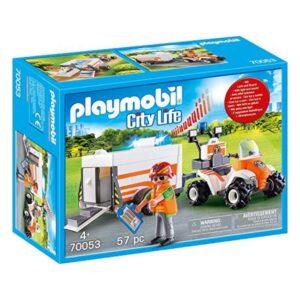 Playset Cite Life Emergency Quad Playmobil 70053 (57 pcs)