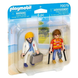 Bonecos City Life Doctor And Patient Playmobil 70079 (6 pcs)