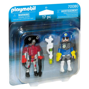 Bonecos City Action Space Police And Thief Playmobil 70080 (17 pcs)