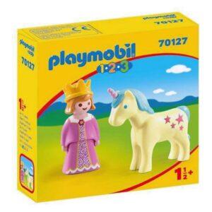 Bonecos Princess With Unicorn 1.2.3 Playmobil 70127