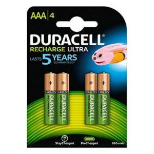 Pilhas Recarregáveis DURACELL DURDLLR03P4B HR03 AAA 800 mAh (4 pcs)